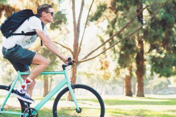 A man riding a 6KU Fixie in the park