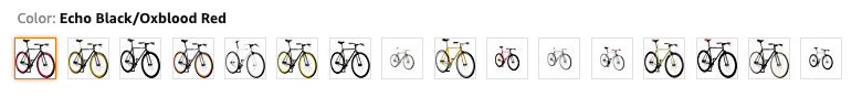 An image of all the different pure fix customization options intended to showcase the appearance for the pure fix fixie review.
