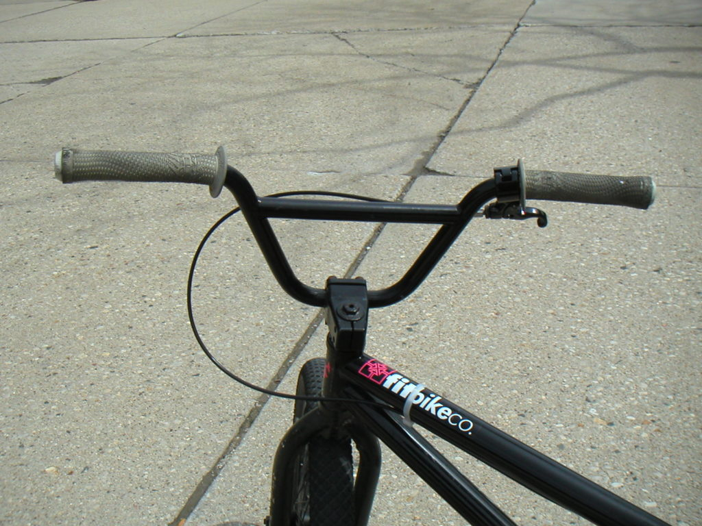 BMX handlebars on a bmx bike