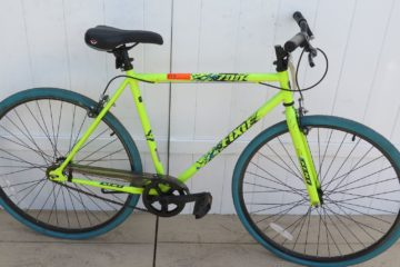 An image of the green Kent Thruster fixie intended to show off the bike for a Kent Thruster fixie review
