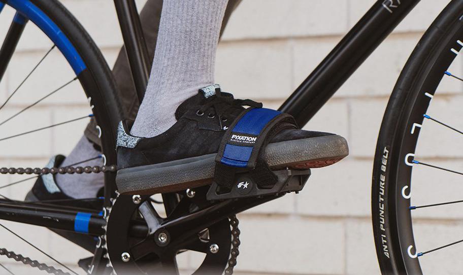Fyxation Gates platform pedals//pedal strap combo blk