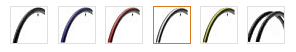 An image showing the range of available colours for the Panaracer Catylyst tires.