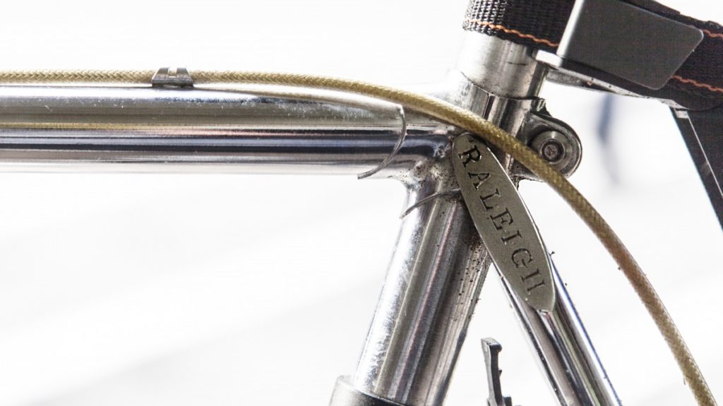 A raleigh bike seatpost intended to show how to adjust the height of your seat for a fixie saddle review