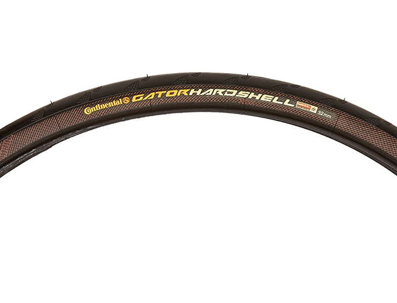 A side view of the Continental Gatorskin Hardshell fixie winter tires, showing off the tire for a list of the best winter tires for your fixie.